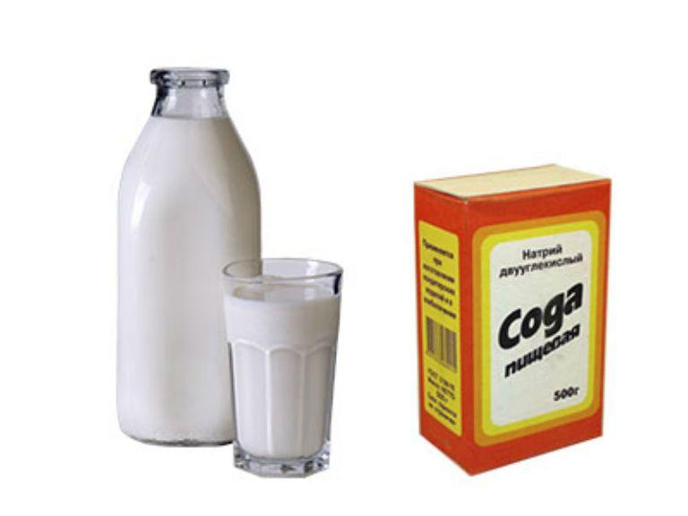 Молоко с содой от кашля, рецепт