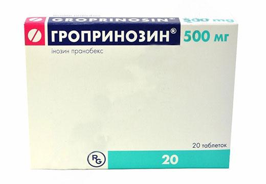 препарат Гропринозин при ВПЧ
