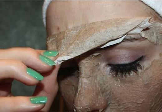 снятие маски с лица