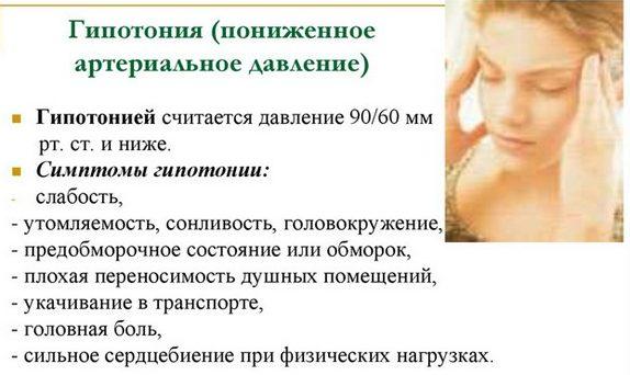 Симптомы давления 80/50