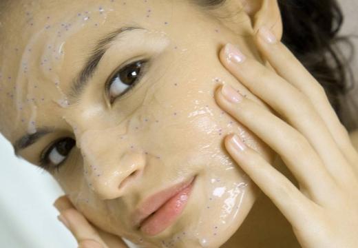 маска скраб с желатином