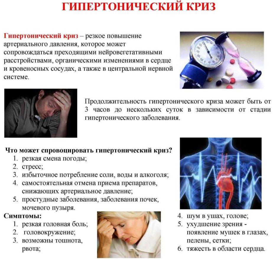 Гипертонический криз: симптомы, лечение, неотложная помощь ...