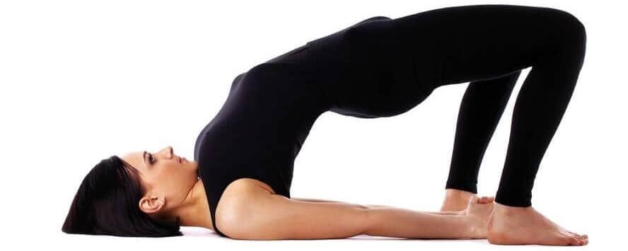 Упражнения для йоги на спине