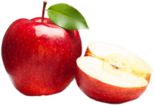 Спелое яблоко в разрезанном виде картинка