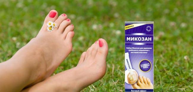 Ноги с профилактическим средством