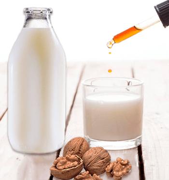 Настой прополиса, молока и орехов