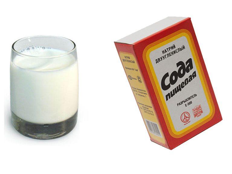 Молоко с содой от кашля, польза и вред