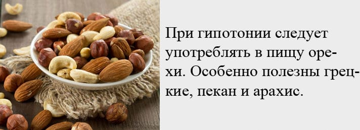 Орехи от гипотонии