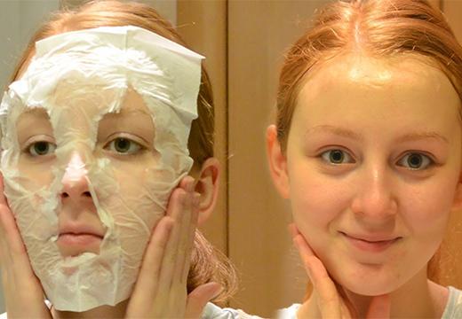 бумажная маска для лица