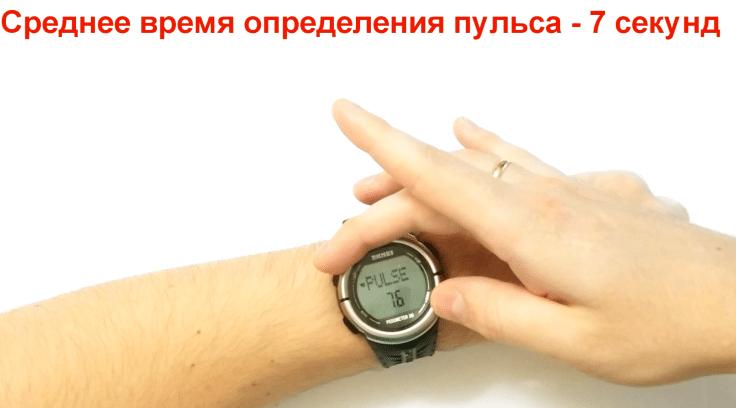 Определение пульса в часах