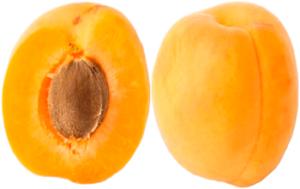 Спелый абрикос в разрезе картинка