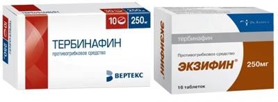 Экзифин и Тербинафин